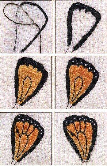 Diy Beautiful Thread Embroidery Butterfly On Dandelion