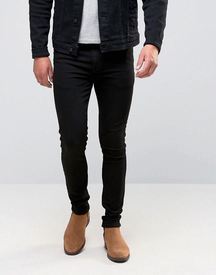 ASOS Super Skinny Jeans in Black - Black