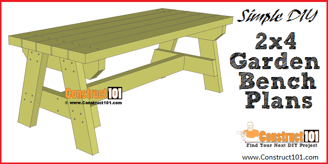 Pleasing Simple 2X4 Garden Bench Plans Free Pdf Download Garden Caraccident5 Cool Chair Designs And Ideas Caraccident5Info