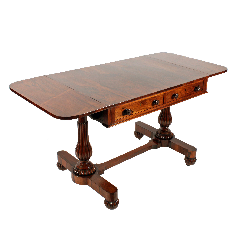 George Iv Rosewood Sofa Table Sofa Table Antique Sofa Table Drop Leaf Sofa Table
