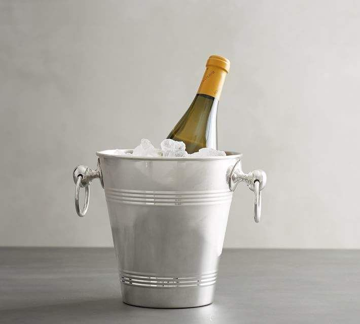 Polished Silver Ice Bucket Products Wine Bucket Wine Chiller Champagne Buckets