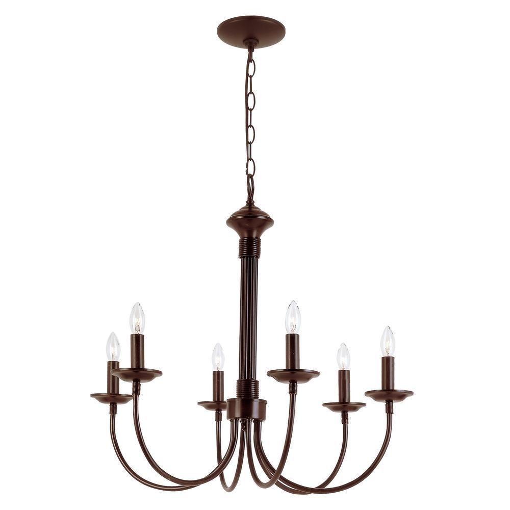 Bel air lighting candle light rubbed oil bronze chandelier bel