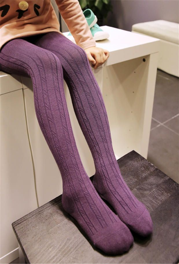 Best Children S Pure Cotton Pantyhose Twisted Vertical Stripes 640 x 480
