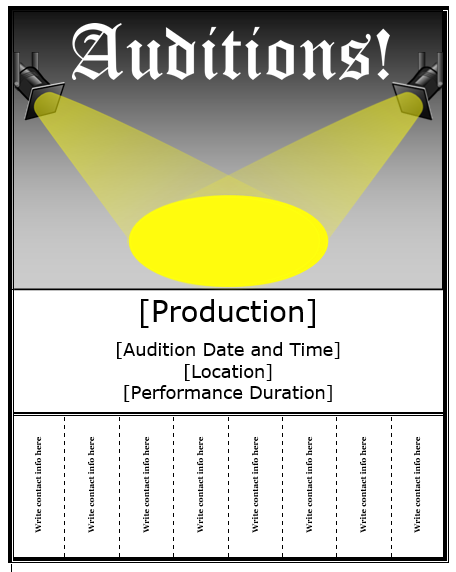 audition flyer templates