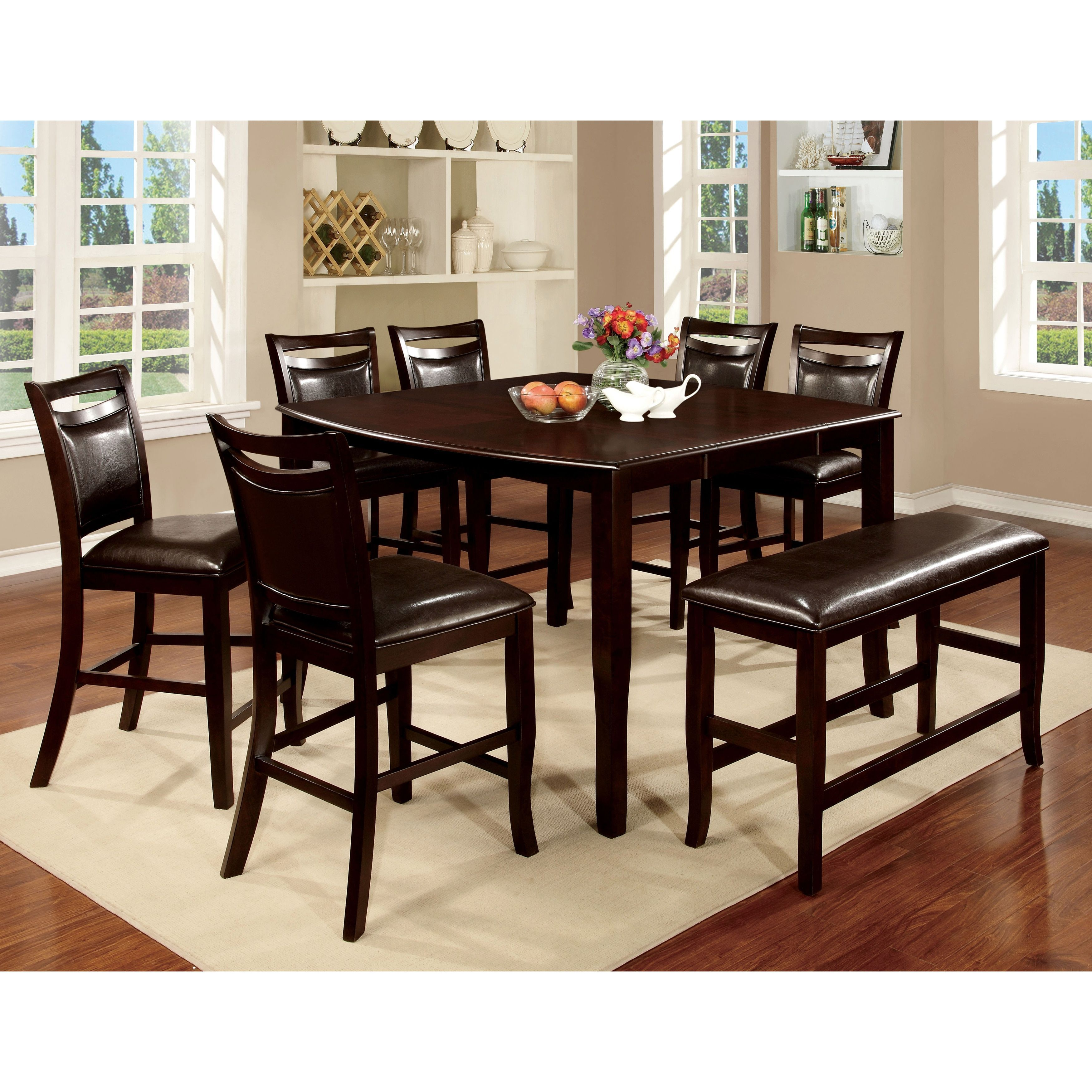 30++ Espresso counter height dining set Trend