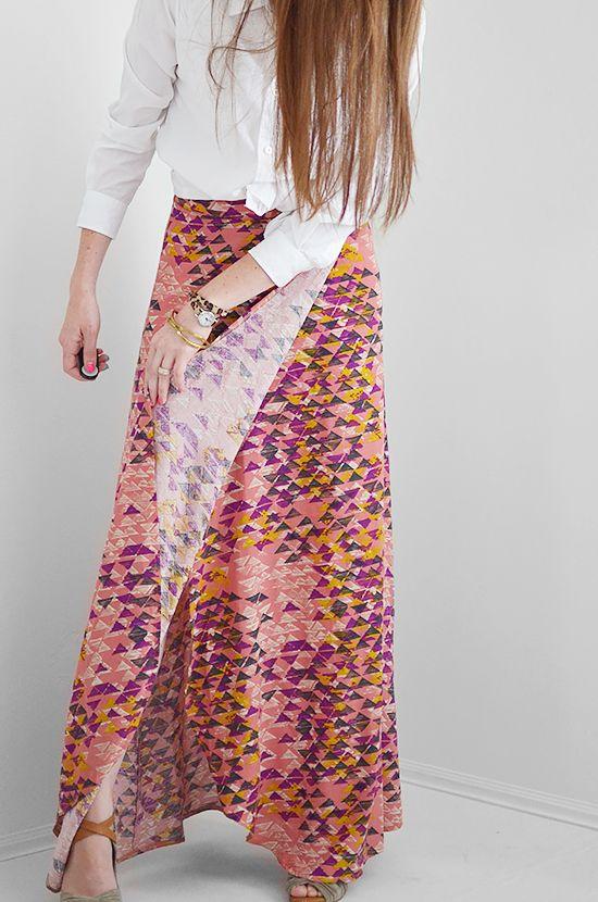 Sewing: Super Wrap Maxi Skirt | Pinterest | Rock, Diy nähen und Rock ...