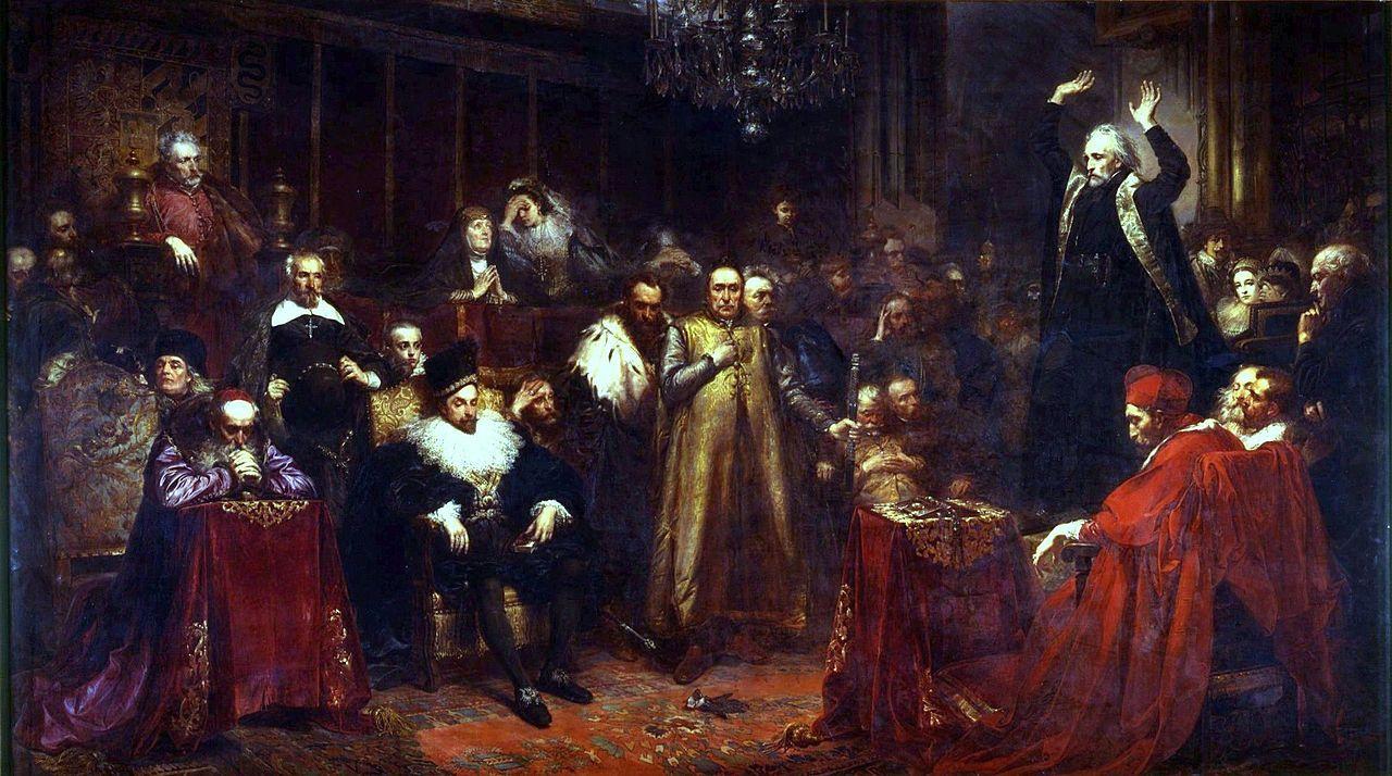 Проповедь Скарги.Ян Матейко,1864. Почти все изображённые ...