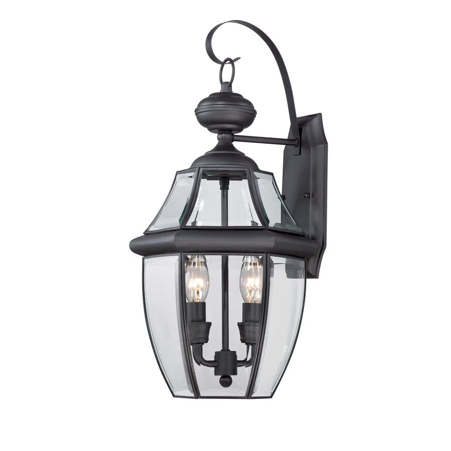 Portfolio Brayden 20.25-in H Mystic Black 2 Light Outdoor Wall Light | Lowe's Canada