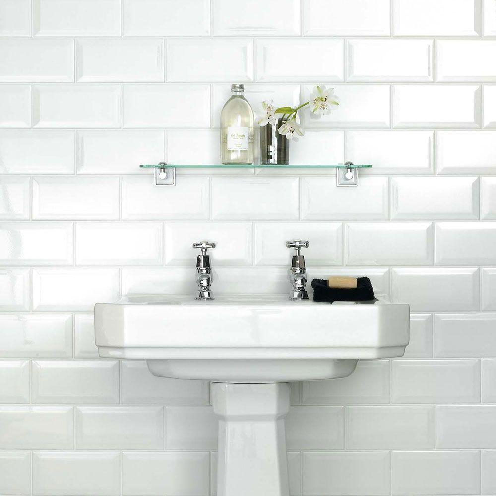 Retro Metro White Gloss Wall Tiles | Walls and Floors | bathrooms ...