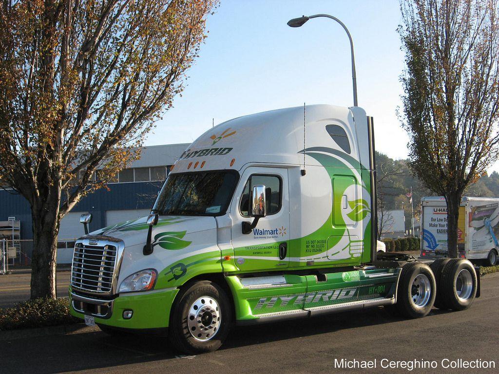 Wal Mart Freightliner Cascadia Hybrid Hy 004 Freightliner Cascadia Freightliner Freightliner Trucks