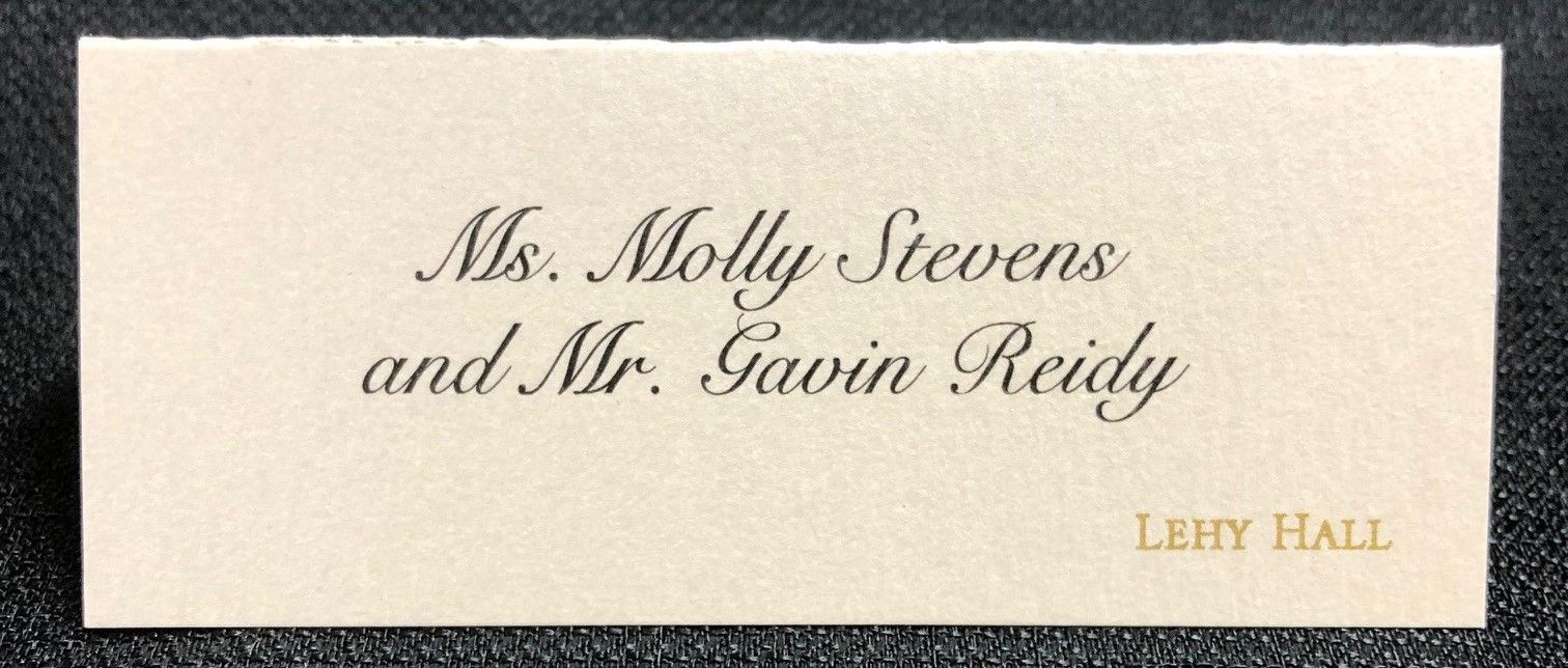 Black and gold place cards boston wedding invitations