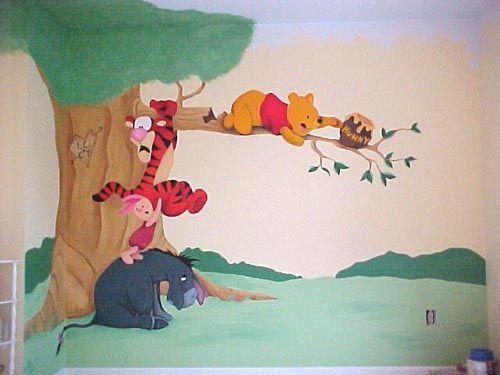 Http://melaniefigueredo.com/img/assets/3612/pooh_mural. Ursinho PoohA ParedeMural  Wall Part 73