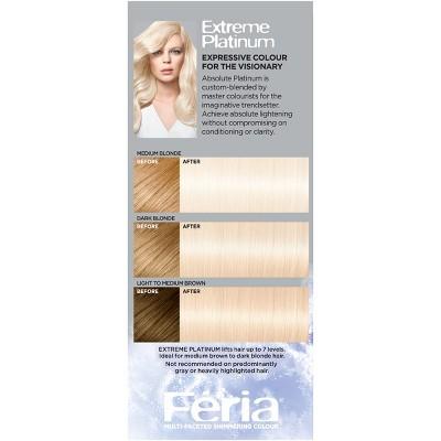 L Oreal Paris Feria Absolute Platinum Advanced Lightening System With Anti Brass Conditioner 1 Kit Loreal Loreal Paris Diy Hair Dye