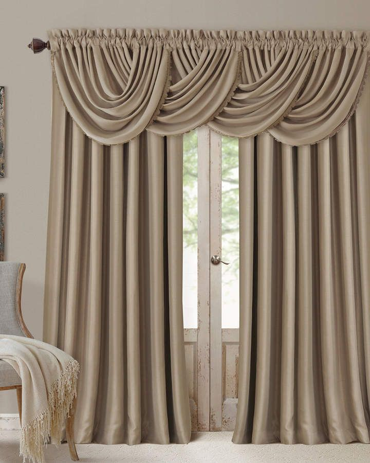 Elrene All Seasons Window Panel Waterfall Valance D Curtains Drapery Valances Diy