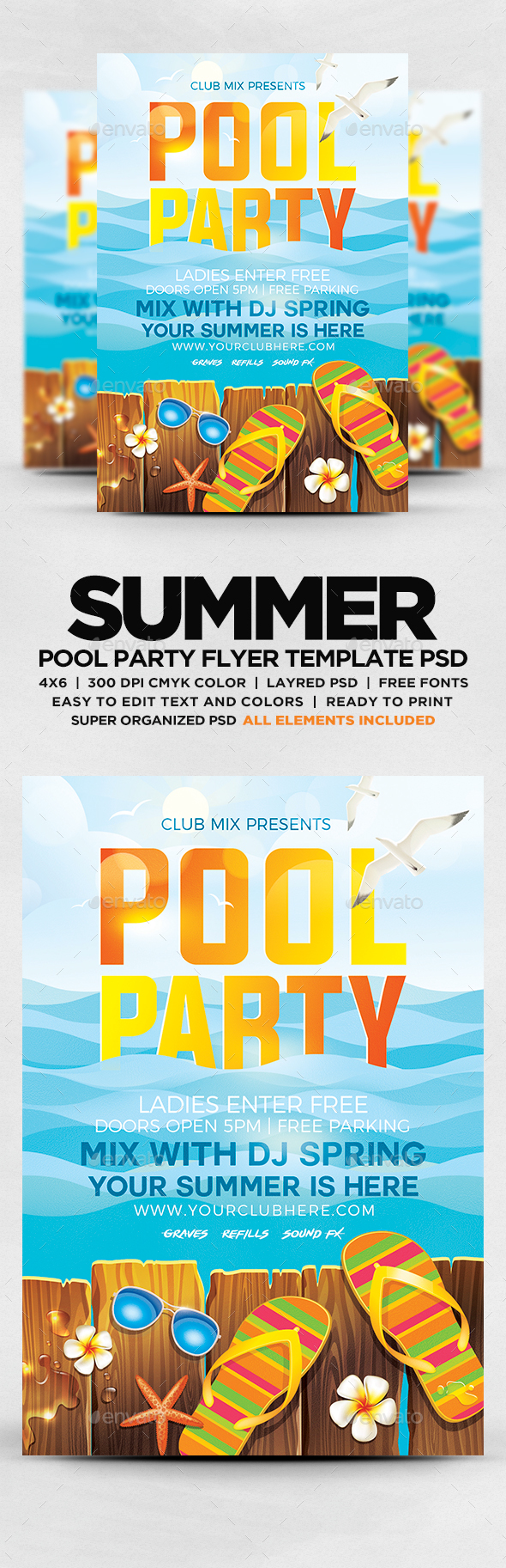 summer pool party flyer flyers print templates download here