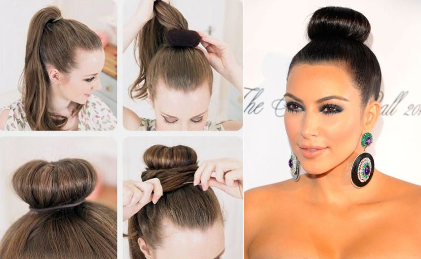 hair bun styles tutorial hairstyles tutorial donut bun hair 3490