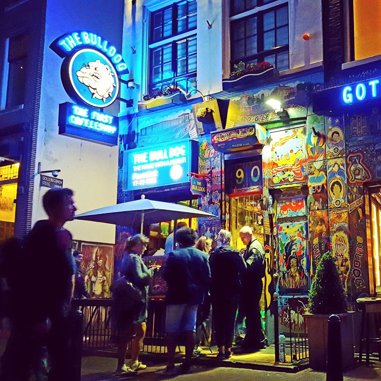 The Bulldog Coffeeshop In The Red Light District Of Amsterdam