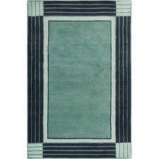 Breakwater Bay Westfield Hand Tufted Wool Teal Blue Navy Area Rug Size X