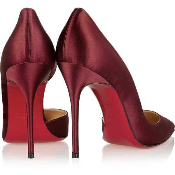 best sneakers 244d4 cf60a Christian Louboutin Iriza 100 satin d'Orsay pumps ($560 ...