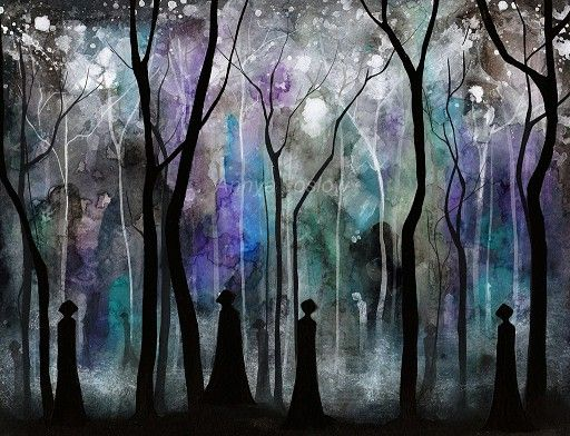 I Love The Layers Of Colors Fantasy Paintings Dark Paintings Haunted Forest