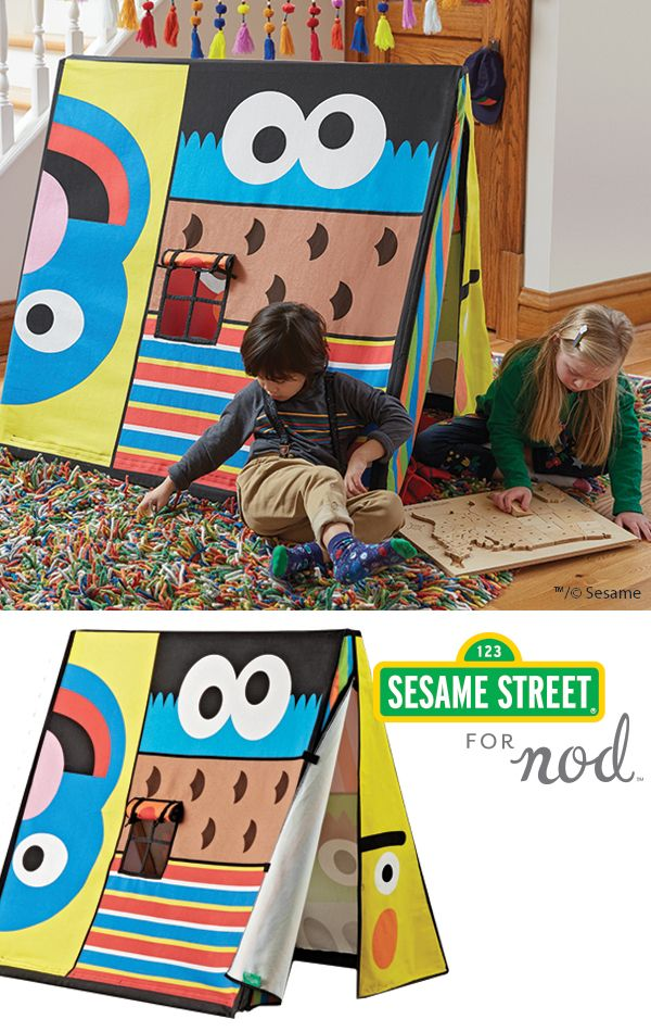 See your favorite characters in a whole new way with our Sesame Street Playhouse. An imaginative centerpiece for any playroom or kids room, it has a modern design that'll make playtime more colorful.