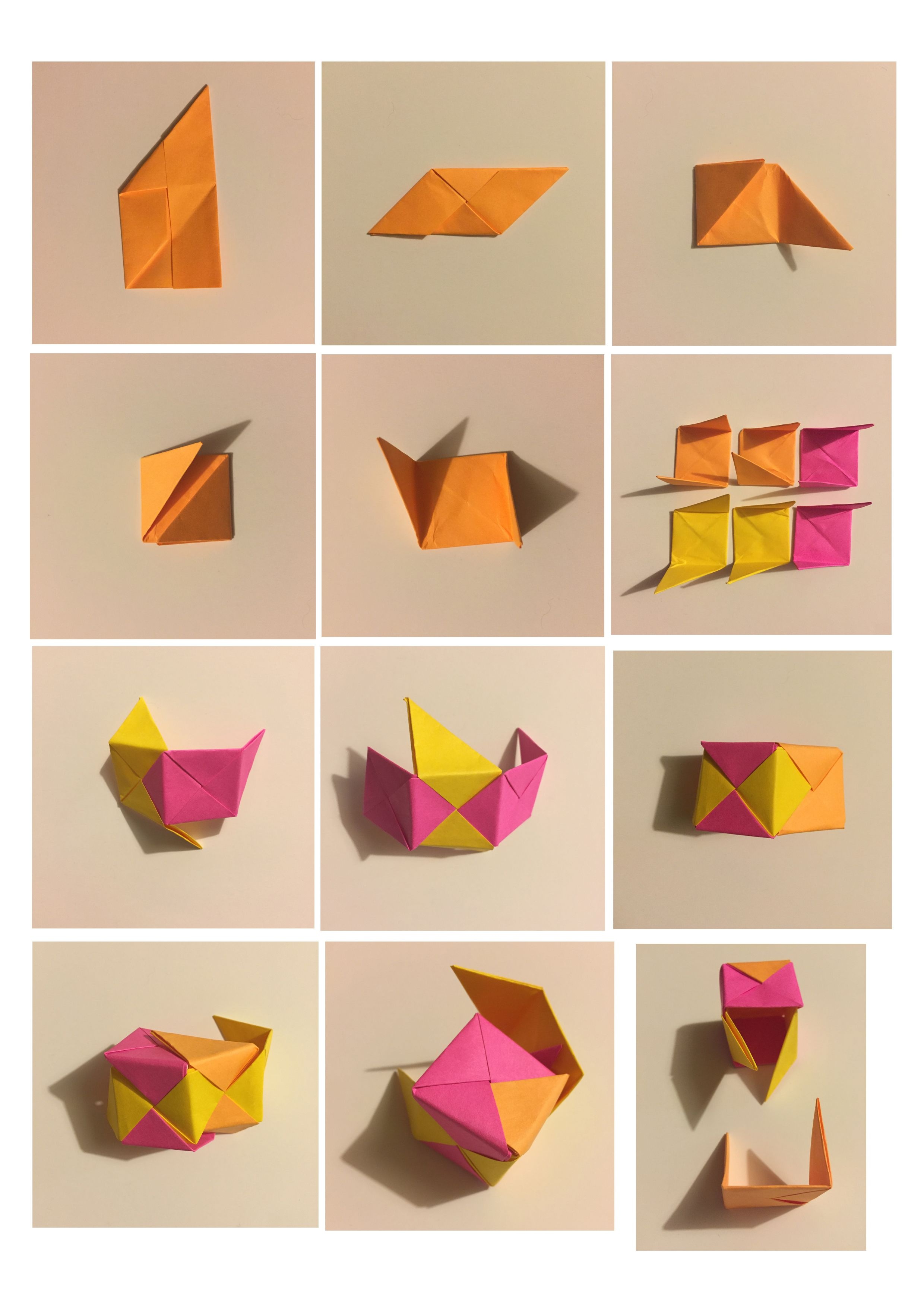 Cube Origami Step 2