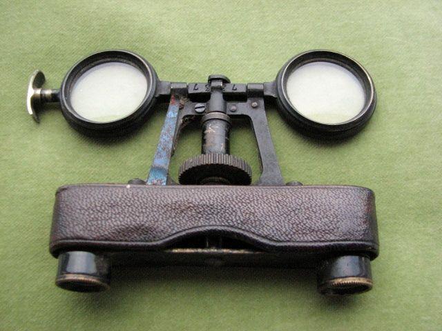 Victorian french folding opera glasses
