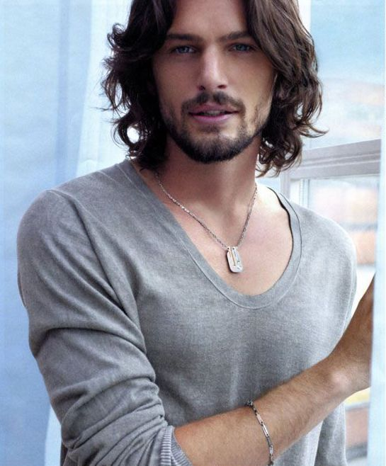 Men With Blue Eyes And Long Brown Hair Google Search Long Hair