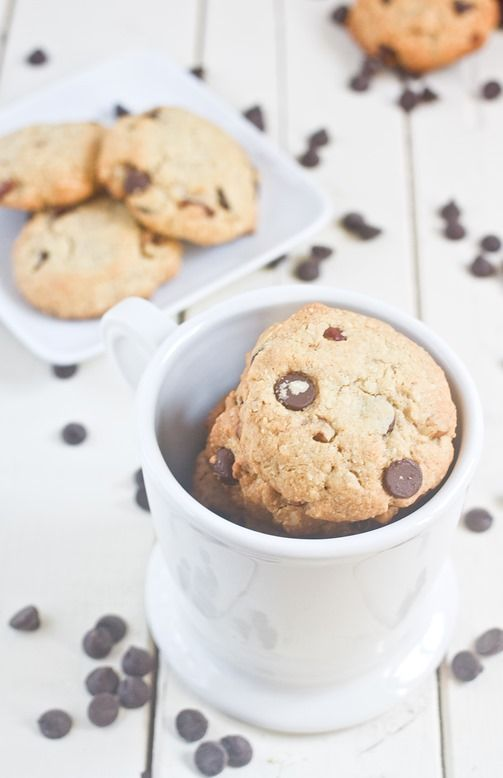 Almond Flour Chocolate Chip Cookies Cup - I made these a few weeks ago and they are delicious. I'm making them again today to use for ice cream sandwiches!
