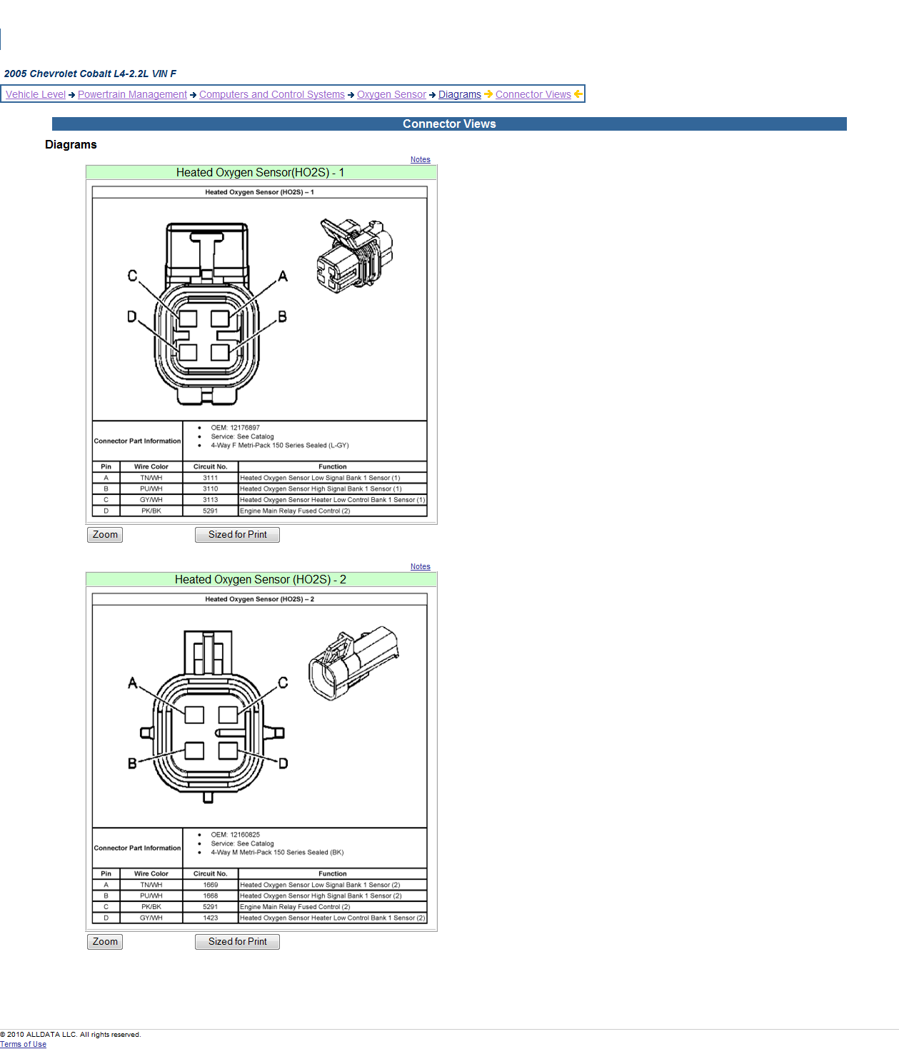 Pin on o2sensor | 2005 Honda Civic Oxygen Sensor Wiring Diagrams |  | Pinterest
