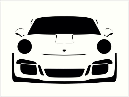 Porsche Gt3 Rs Silhouette White Lava Art Print By Cedramichelle In 2020 Porsche Gt3 Porsche Gt3 Rs