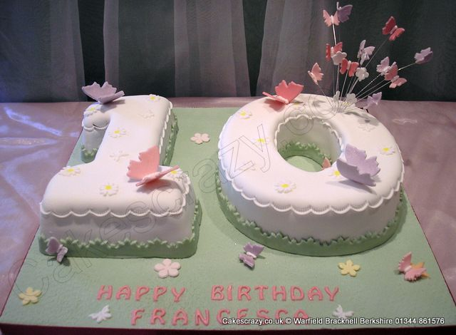 Admirable Number 10 Cake Butterflies Numerical Butterfly Themed Number 10 Funny Birthday Cards Online Ioscodamsfinfo
