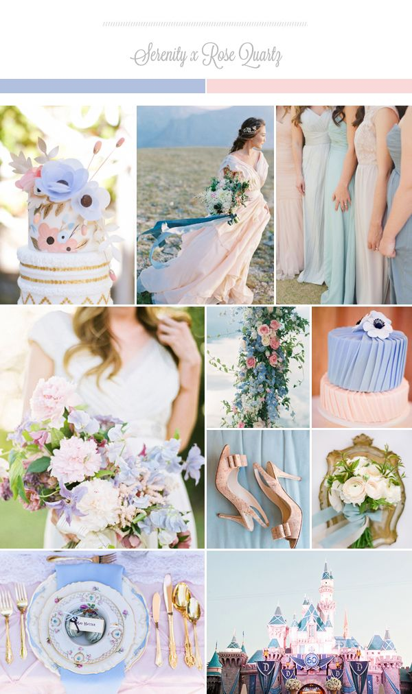 pantone 2016 two is better than one rose quartz serenity wedding ideas rose quartz. Black Bedroom Furniture Sets. Home Design Ideas