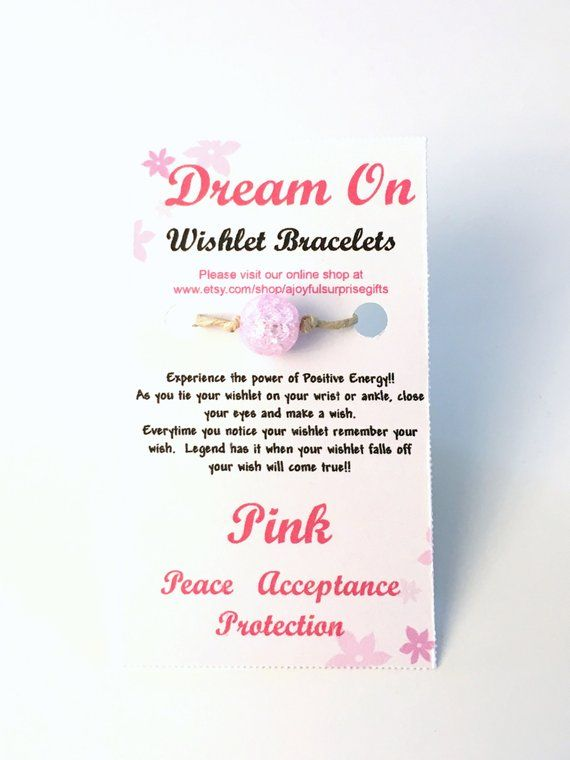 d9af15bfc8e30 Pink Wishlet Bracelet, Make a Wish Gift for Best Friend, Anklet ...