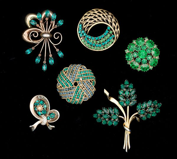 Weiss, Enzell, Trifari, J.J. & Sterling Costume Jewelry Brooch Collection - Cowan's Auctions