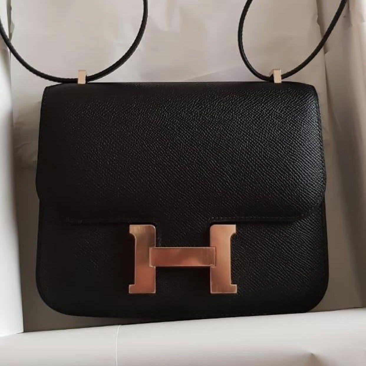 2d515eaf2fc9 Hermès Constance 18 Noir (Black) Epsom Rose Gold Hardware RGHW C Stamp 2018
