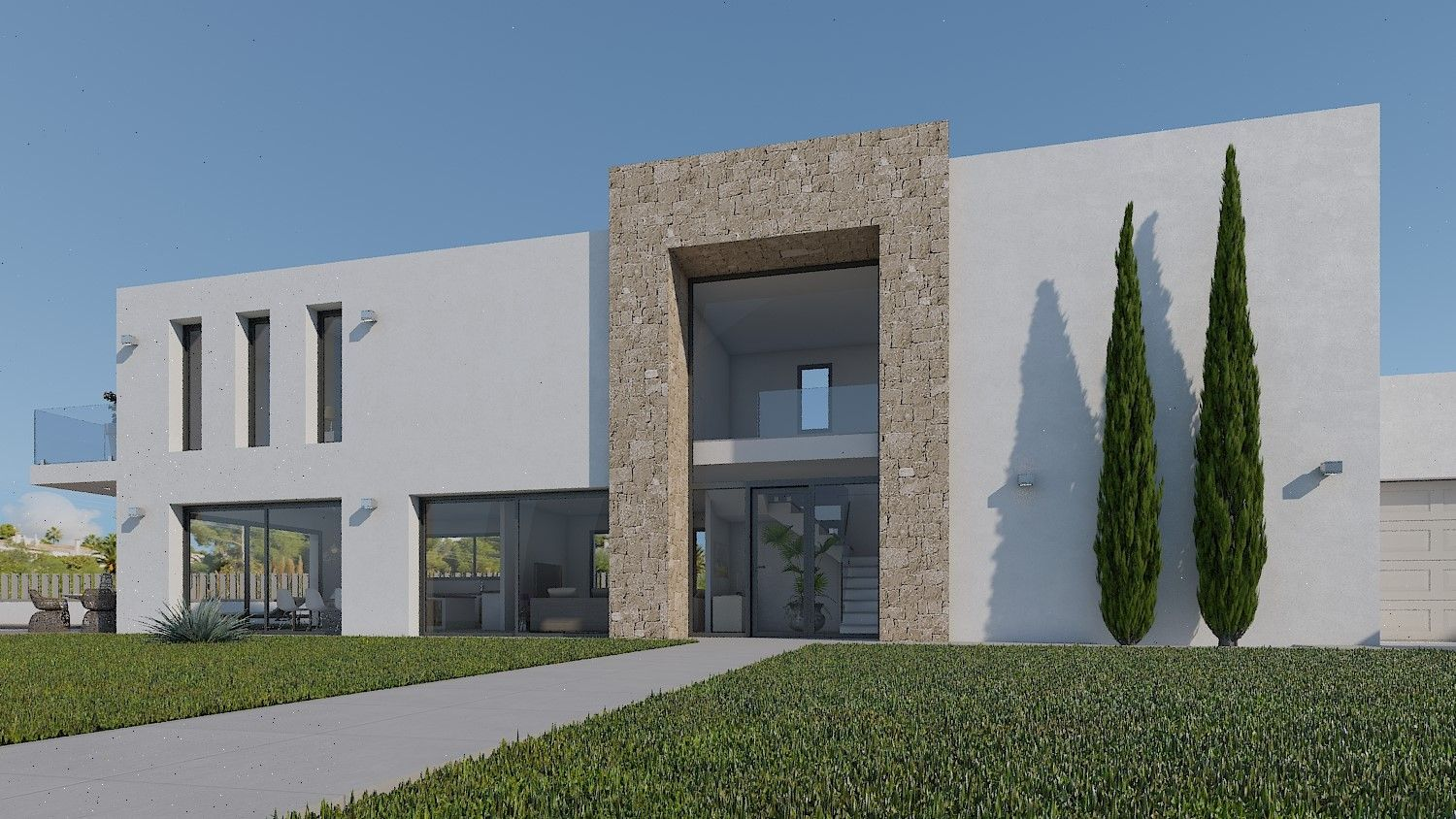 New Build Project Being Built In Moraira
