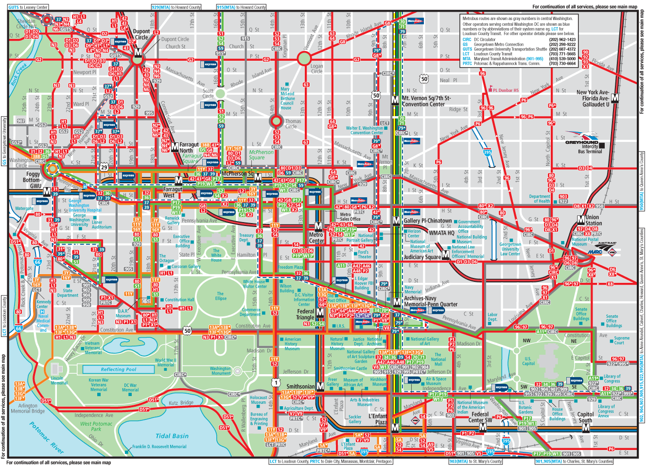 This is a graphic of Canny Printable Street Map of Washington Dc