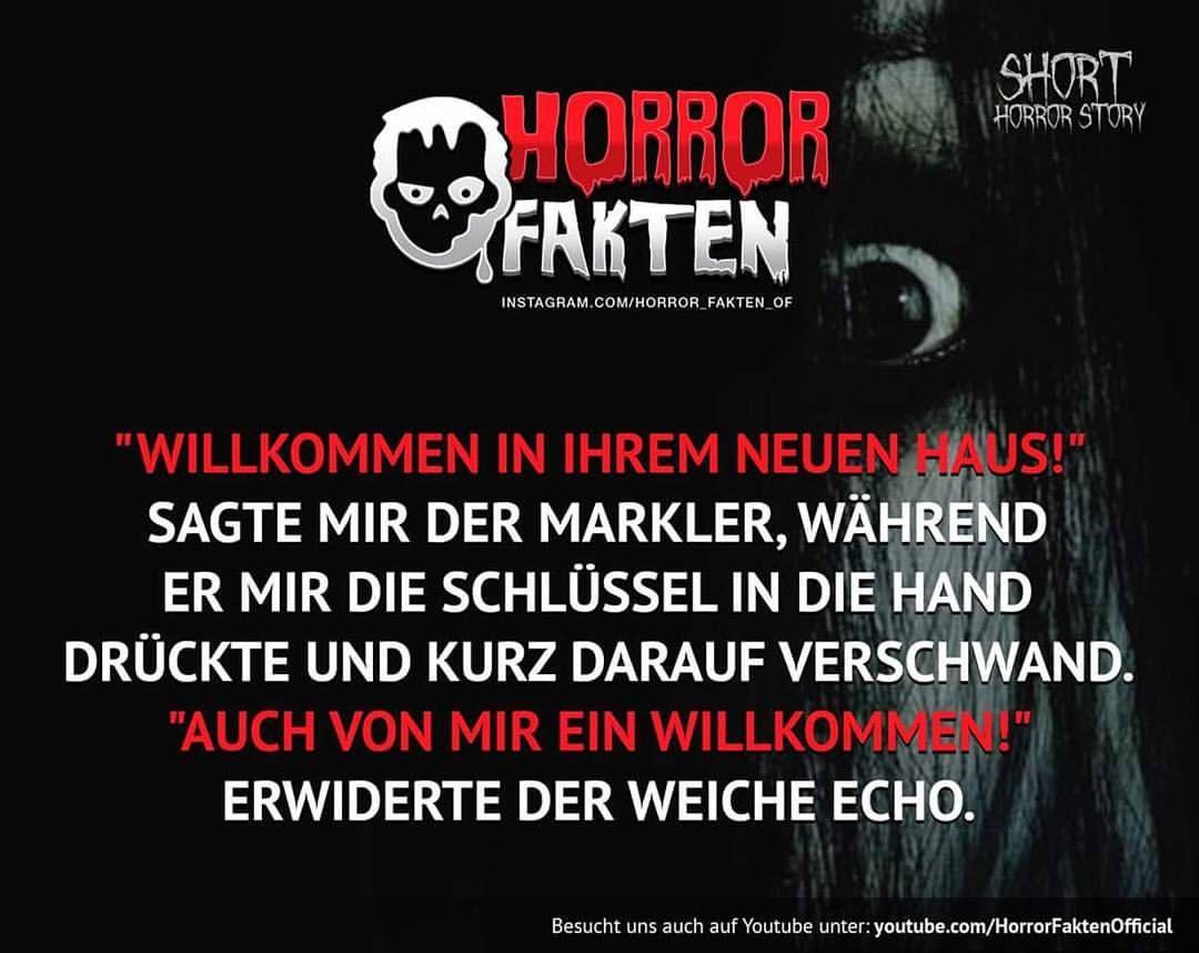 #horror #horrorfakten #fakten | Sprüche ∅ Fakten ...