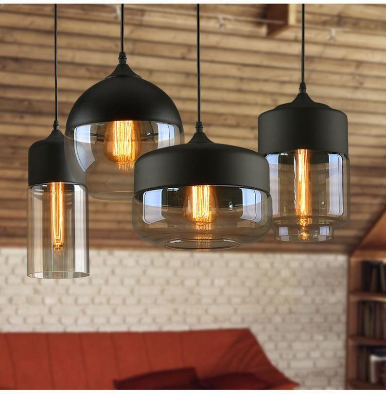 Pendelleuchte Hangelampe Pendelbeleuchtung Schwarz Weiss Etsy In 2020 Glass Pendant Lamp Hanging Ceiling Lamps Pendant Lighting