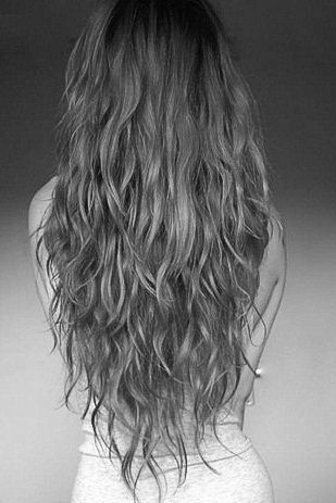 long wavy v-cut