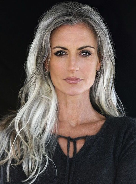 Long Grey Hairstyles Amazing 21 Impressive Gray Hairstyles For Women  Pinterest  Grey Hairstyle