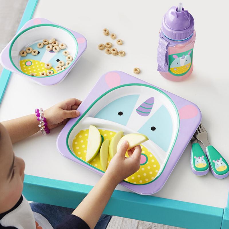Skip Hop Enfant//Enfants//Tout-petits Zoo assiette et bol Vaisselle Set