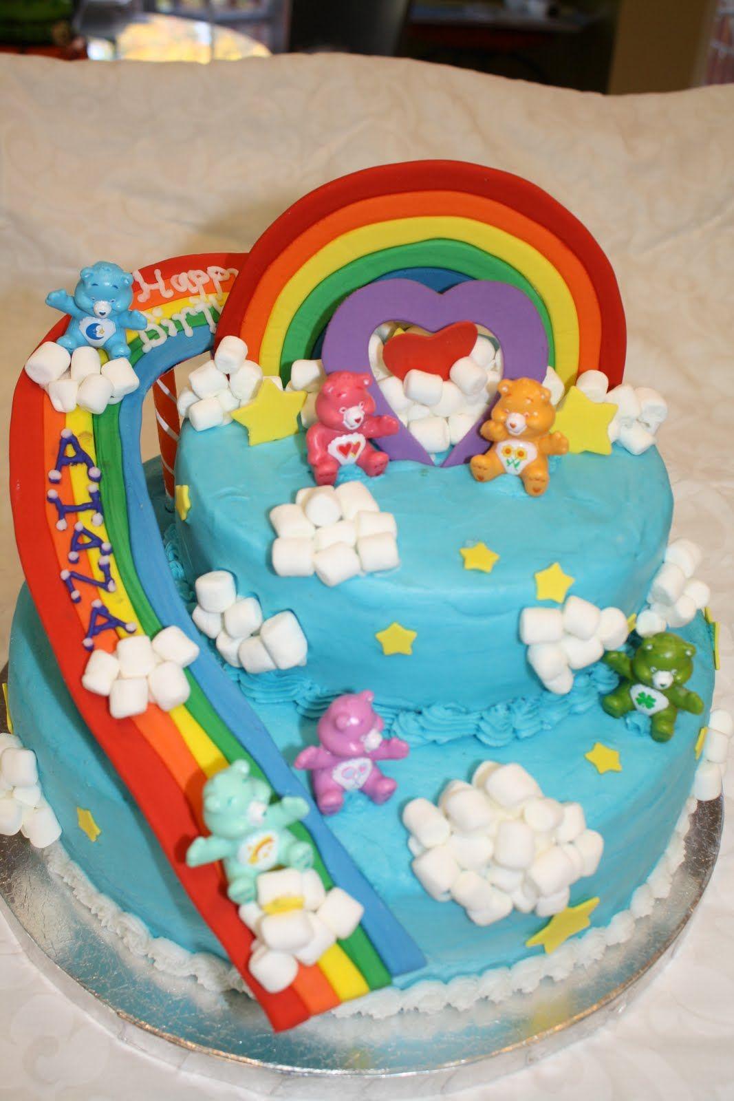 Care Bears Themed Birthday Party Cakelicious Care Bears Birthday