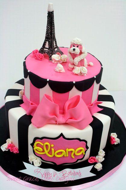 Paris Themed Custom Birthday Cakes NJ New Jersey