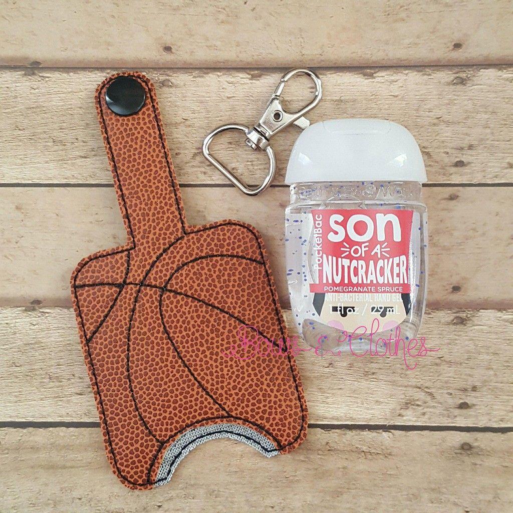 Basketball Hand Sanitizer Case Snap In Back Hand Sanitizer