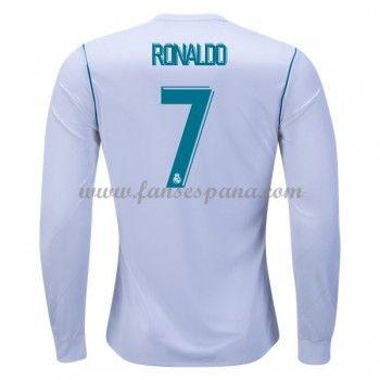 Camisetas De Futbol Real Madrid Cristiano Ronaldo 7 Primera Equipación  Manga Larga 2017-18 7f8629c9ccb1c