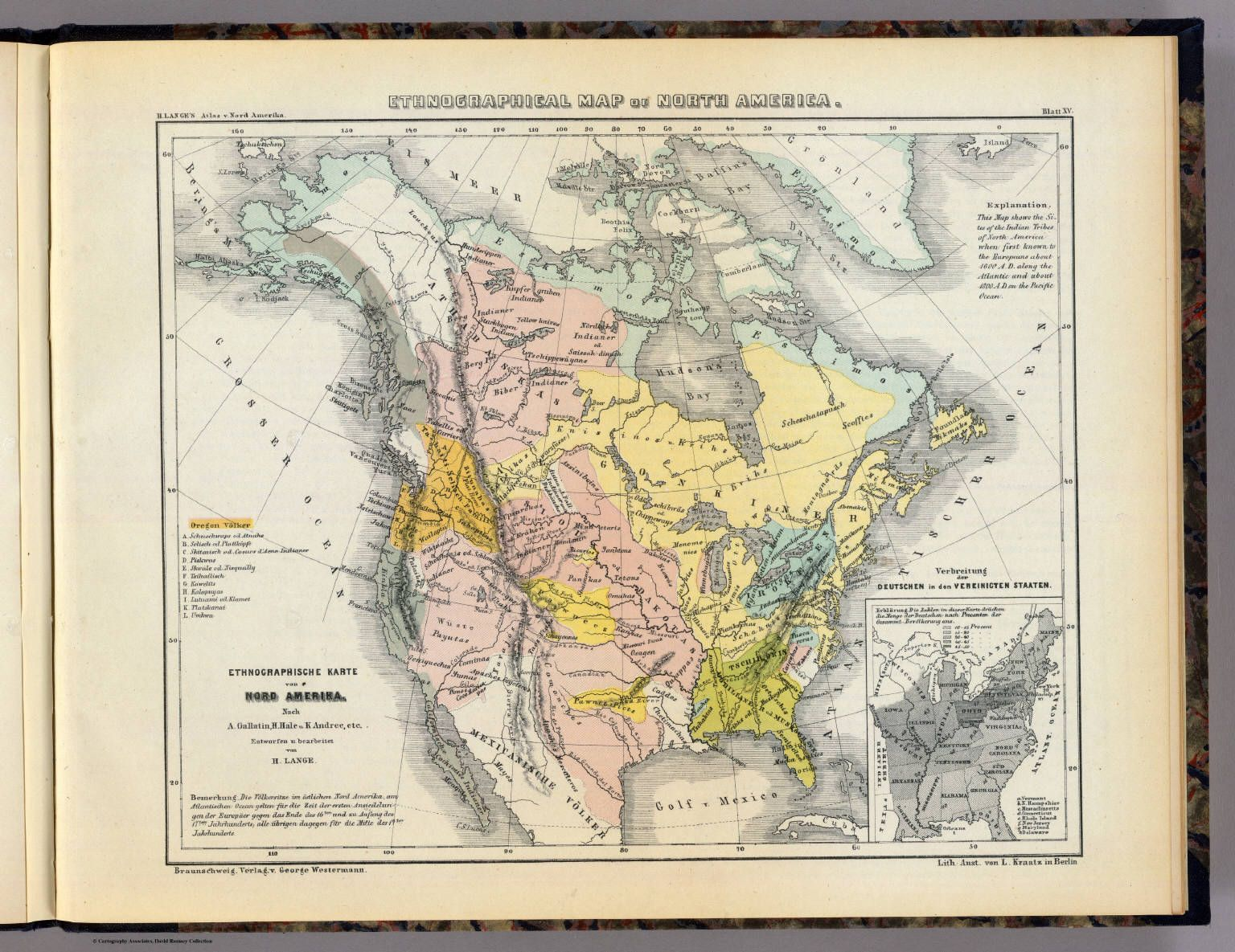 Ethnographic map of North America