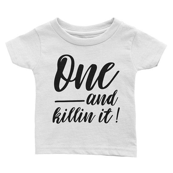 1st Birthday Shirt Boy First Outfit Trendy One Year Old Gift