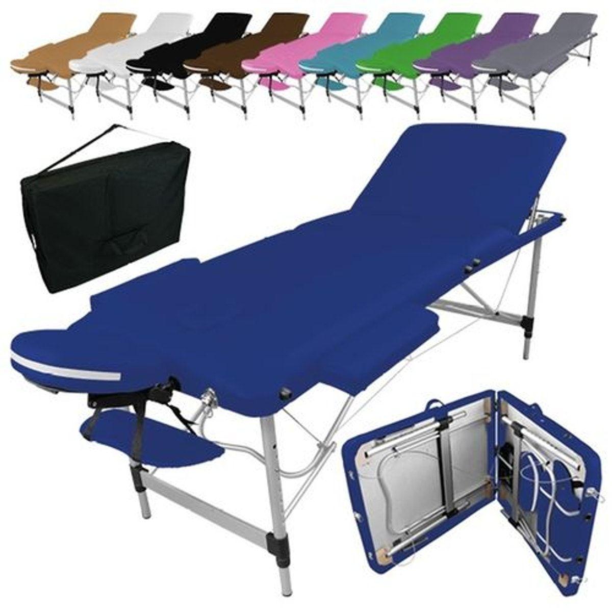 Table De Massage Pliante 3 Zones En Aluminium Accessoires Et Housse De Transport Taille Taille Unique Table De Massage Massage A Domicile Et Housses